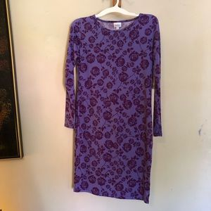 NWT LulaRoe Debbie Purple Floral Mini Dress M